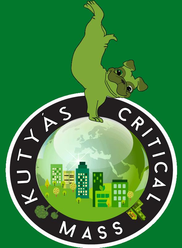 Kutyás Critical Mass logója - ZöldEb Egyesület